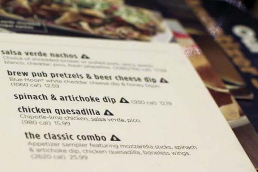Menus with calorie counts now a must in US as Obama-era rule