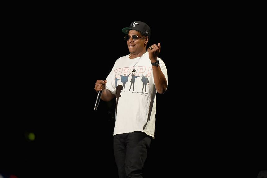 Jay-Z performing onstage during the Meadows Music And Arts Festival in New York City.