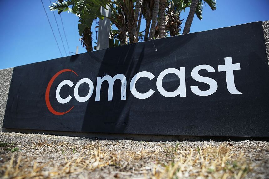 A Comcast sign seen in Miami, Florida, on April 25, 2018.