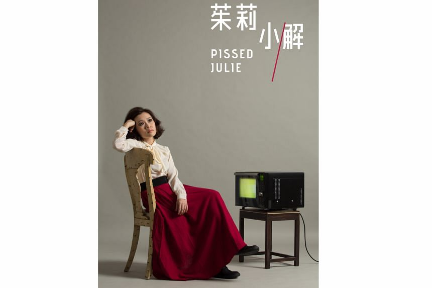 Nine Years Theatre Ensemble's co-founder Mia Chee is one of three actresses playing the titular character in Pissed Julie.