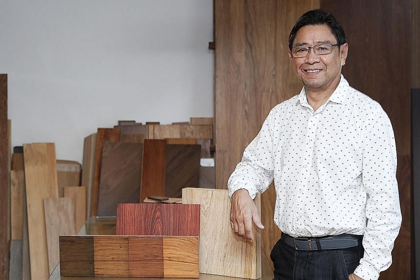 Pacific Forest Products boss Jason Chang said the quality of the company's Onewood is better than that of natural timber, while production cost is on a par. He wants to take Onewood global.