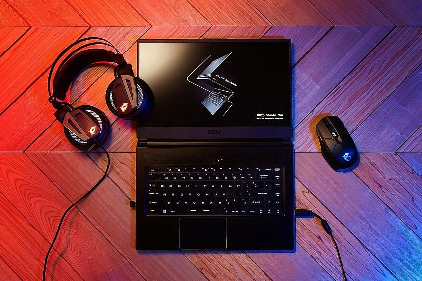 The MSI GS65 Stealth lasted about seven hours in The Straits Times video-loop battery test.