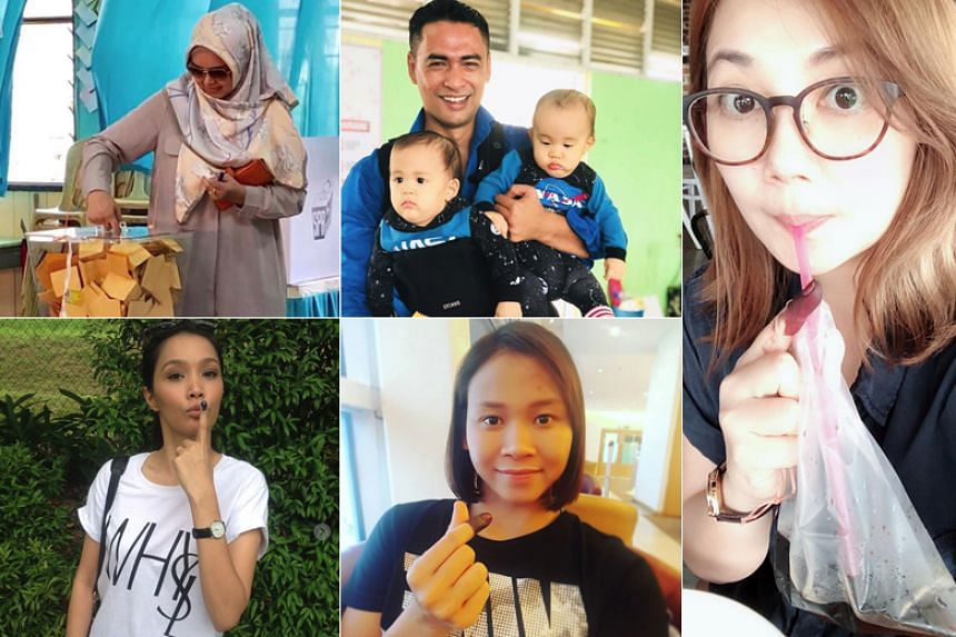 Malaysian celebrities took to social media to share about the votes they cast.