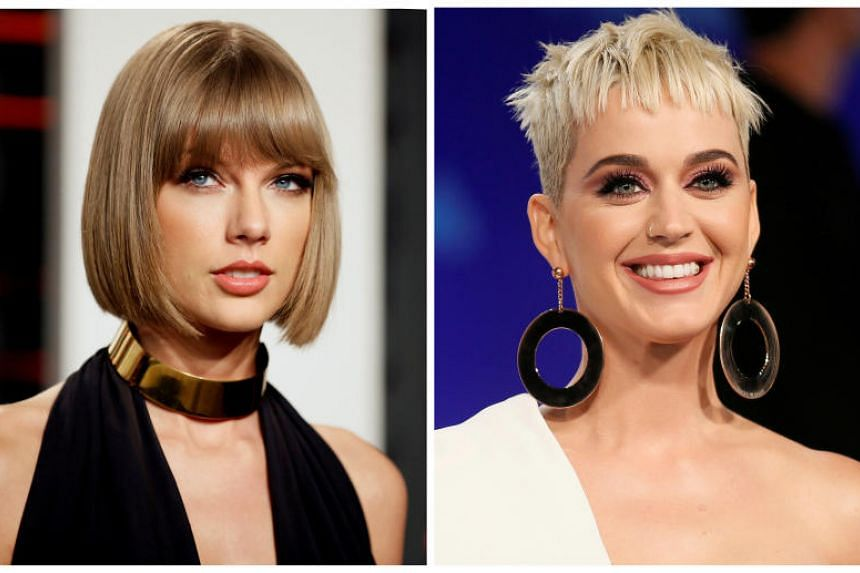 """An attempt by Katy Perry (right) a year ago to bury the hatchet, when she apologised for past actions and called Taylor Swift a """"fantastic singer"""",was met with silence from the latter."""