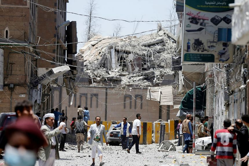 Warplanes from a Saudi-led coalition bombed Yemen's presidential palace in the centre of the Houthi-controlled capital Sanaa early on Monday, killing at least six people, Houthi-run media reported. The coalition, which entered Yemen's war in 2015 to