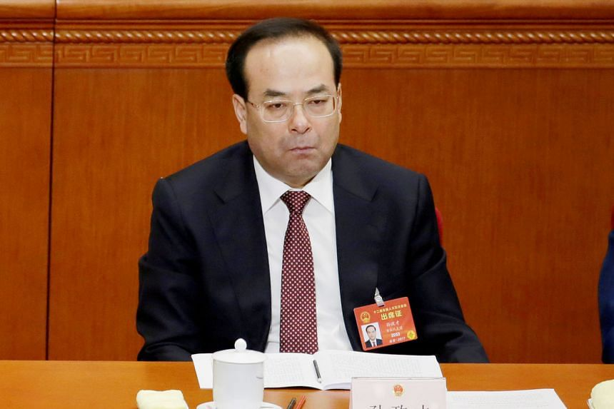 Between 2002 and last year, Sun Zhengcai, former Chinese Communist Party chief of the south-western mega city of Chongqing, took advantage of his position to seek profits for others and illegally accepted money, according to court statements.