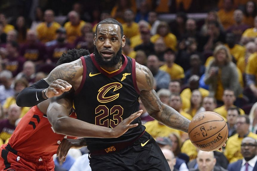 Cleveland forward LeBron James driving against Toronto forward O.G. Anunoby in Game 4 of their Eastern Conference semi-final series at Quicken Loans Arena on Monday. The Cavaliers swept the series 4-0 to reach the Conference Finals, where they will f