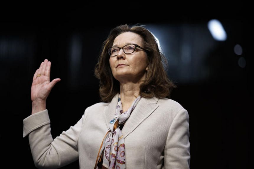 CIA nominee Gina Haspel is sworn in before the Senate Intelligence Committee for her conformation hearing, on Capitol Hill in Washington on May 9, 2018.