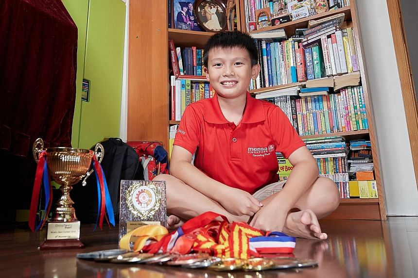 Xavier Wong, 10, has learnt techniques to control his impulses and runs at recess to burn off excess energy.