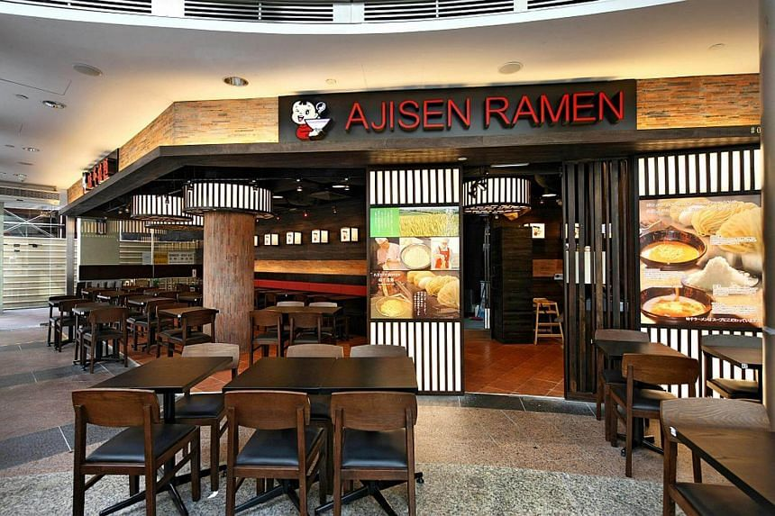 An Ajisen Ramen outlet. Japan Foods has declared a final cash dividend of 1.30 Singapore cents per share, up from a year-ago payout of 1.25 Singapore cent.