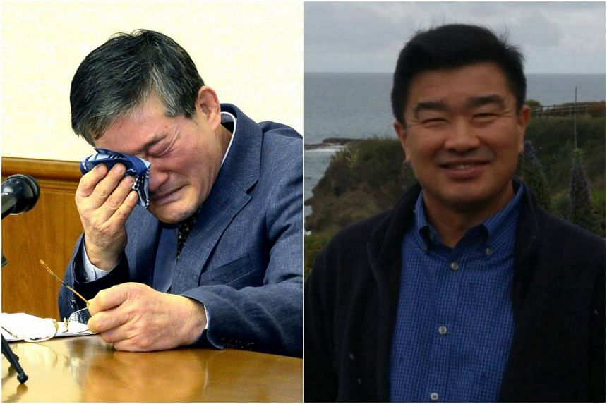 """Mr Kim Dong Chul (left) and Mr Tony Kim were held on charges of committing espionage or unidentified """"hostile acts"""" against North Korea."""