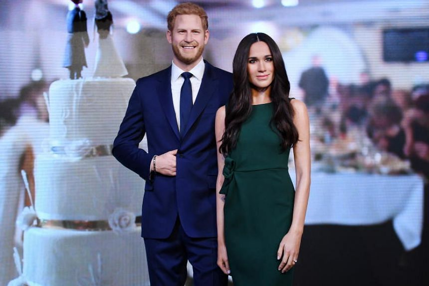 A brand new waxwork of Meghan Markle is unveiled at Madame Tussauds' in London, Britain, on May 9, 2018.