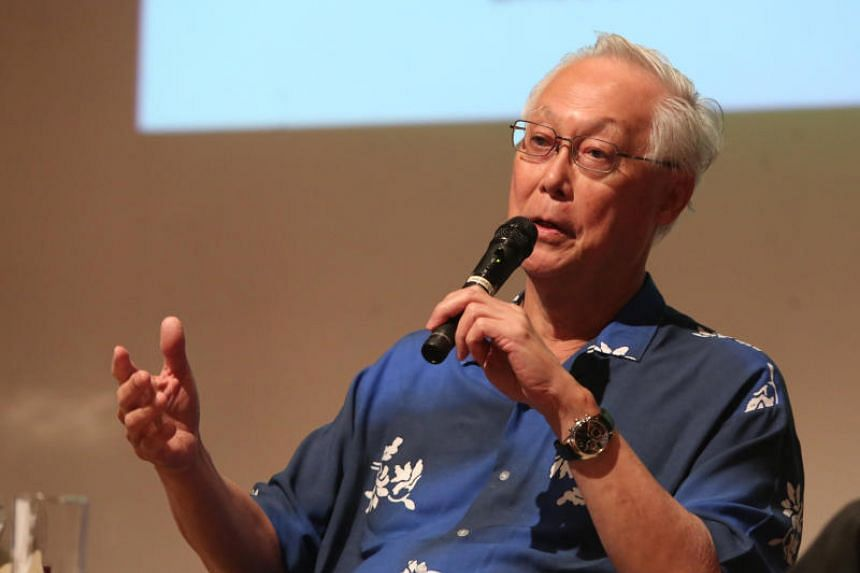 Emeritus Senior Minister Goh Chok Tong at the youth awards ceremony on Jan 6, 2018 in his Marine Parade constituency.
