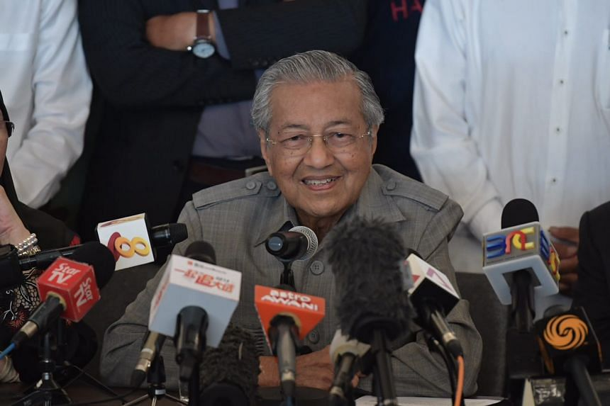 Dr Mahathir Mohamad holds a press conference at the Sheraton Petaling Jaya Hotel on May 10, 2018.