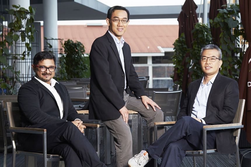 From left: Mr Hari Shankar, Singapore Media Exchange's CEO; Mr Julian Tan, executive vice-president for SPH's digital division and director of SMX; and Mr Roger Moy, head of consumer insights and analytics at Mediacorp and chair of SMX.