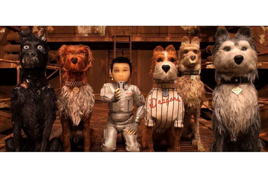 A boy and a troupe of dogs set off in search of his pet on Trash Island in Isle Of Dogs.