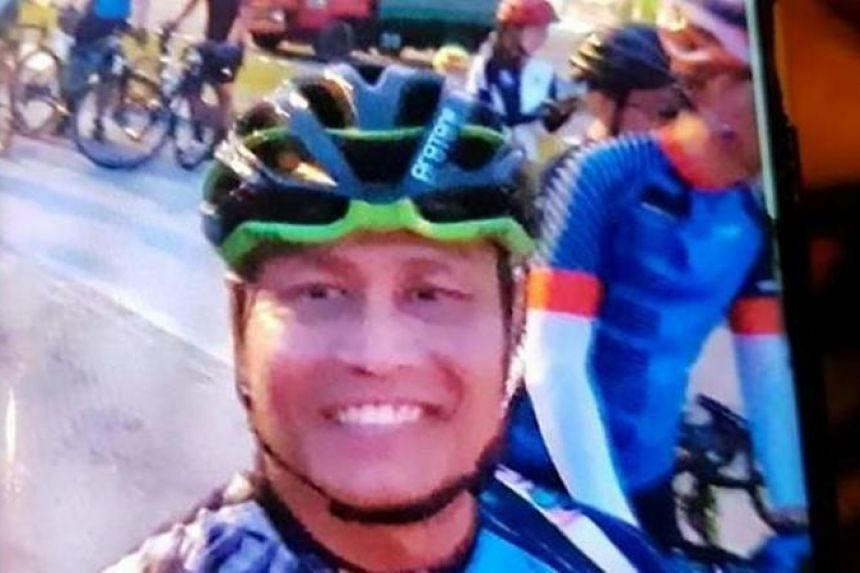 Mr Abdul Samat Ismail was suspected to have fallen off his bicycle after fainting.
