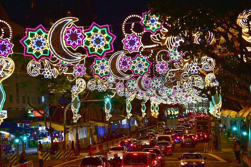 The festive lights will stay on from tomorrow till June 30, and will coincide with the opening of the popular Geylang Serai bazaar featuring about 800 stalls. The bazaar will also take up the ground floor of Wisma Geylang Serai, a new Malay-Muslim so