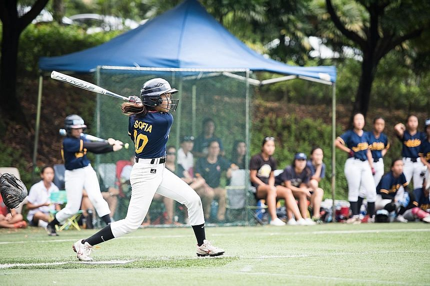 Sofia Soban's home run gave the ACJC softball girls' team a 1-0 lead and they went on to win 4-2 to retain their A Division title.