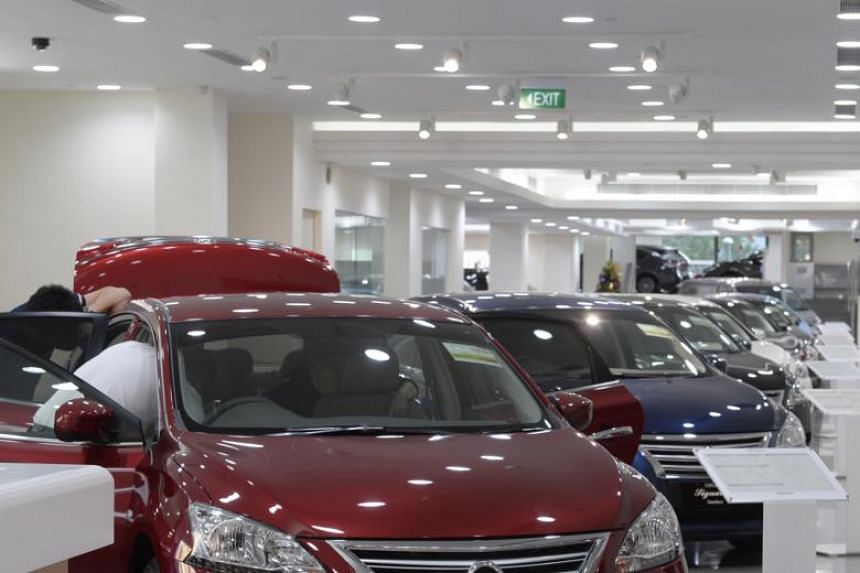 Excluding motor vehicles, takings at the till rose 2.6 per cent, according to Singapore Department of Statistics data released on May 11, 2018.