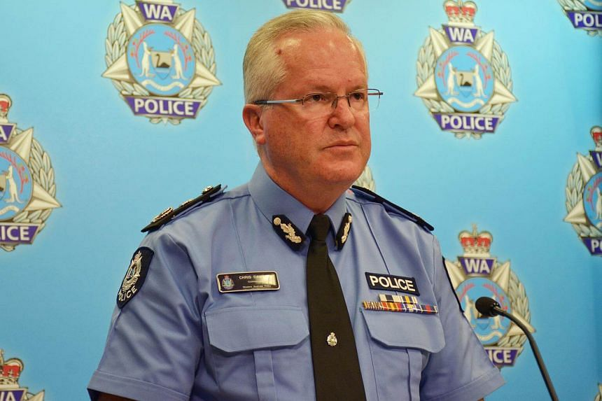 Western Australia police commissioner Chris Dawson speaking to the media following the incident at a rural property near the Margaret River wine region.