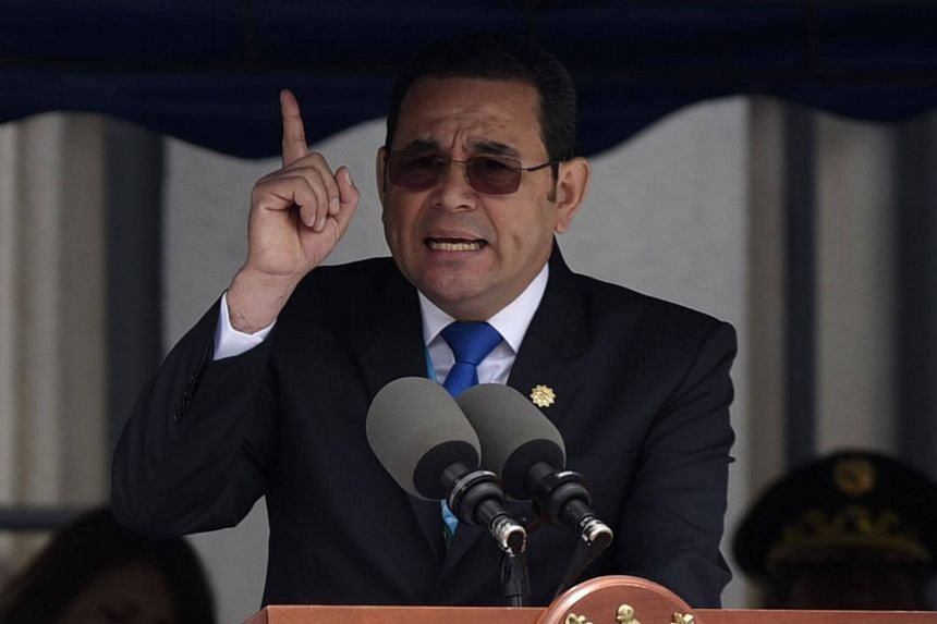 Guatemalan President Jimmy Morales, who has been assailed by graft accusations against members of his family.