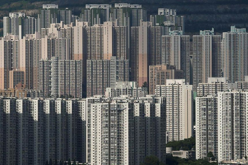 File photo showing public and private housing blocks in Hong Kong.