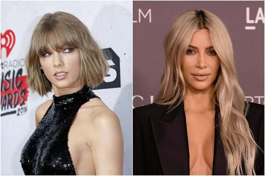 Taylor Swift (left) revisited her feud with Kim Kardashian at her concert in Arizona on May 8, 2018.