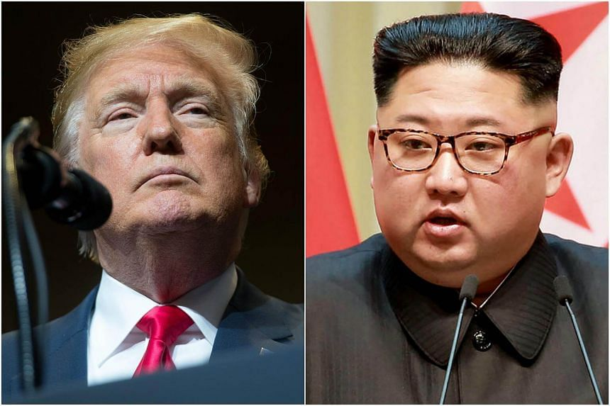 US President Donald Trump (left) confirmed in a tweet that his highly-anticipated summit with North Korean Leader Kim Jong Un would take place in Singapore on June 12.