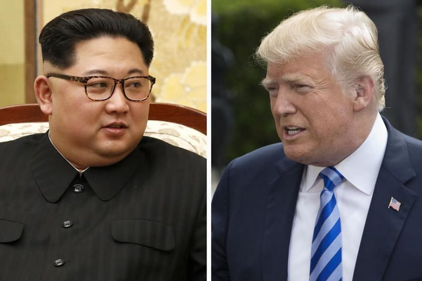 North Korean leader Kim Jong Un (left) at the Peace House on the Demilitarised Zone in Panmunjom, South Korea and US President Donald Trump at the White House.