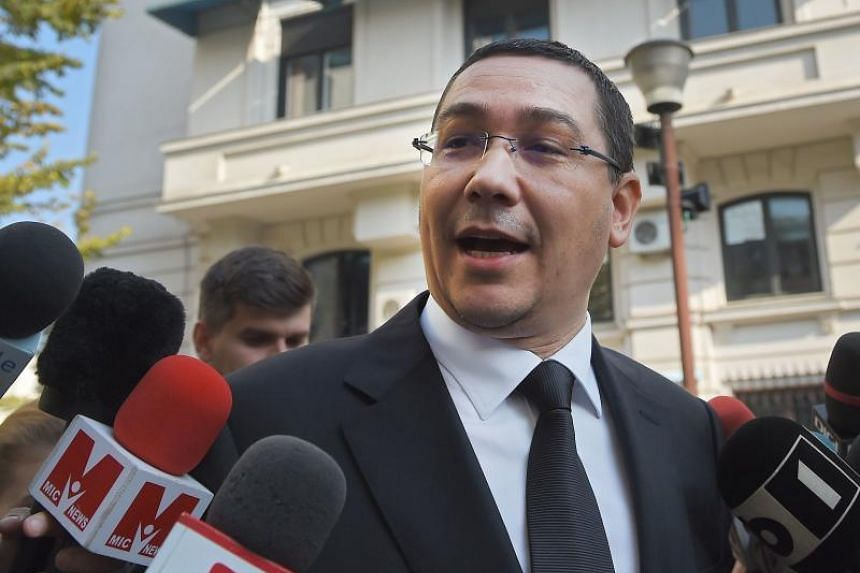 Former prime minister Victor Ponta exits the High Court of Cassation and Justice in Bucharest on Nov 6, 2015.