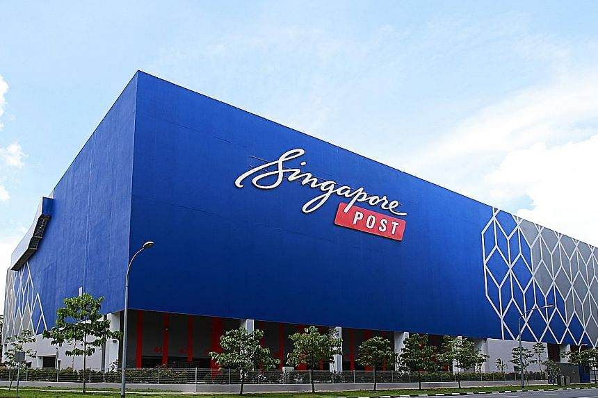 """SingPost's Regional eCommerce Logistics Hub in Tampines LogisPark. Revenue for the firm's e-commerce segment rose 15.7 per cent in the fourth quarter, and was stable for the full year. Group chief executive Paul Coutts said SingPost is """"well position"""