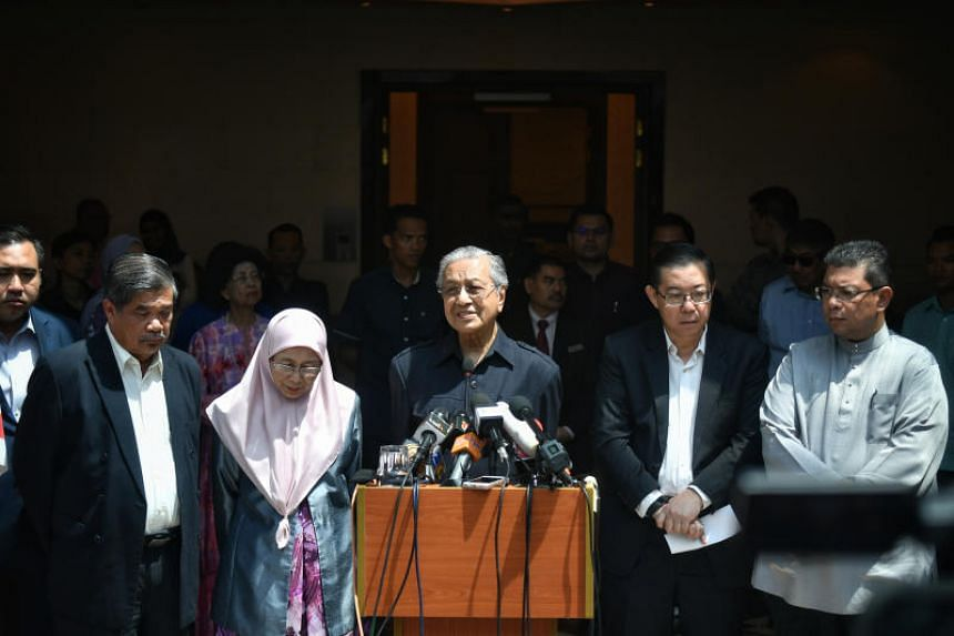 Malaysia Prime Minster Mahathir Mohamad giving a press conference in Kuala Lumpur on May 11, 2018.