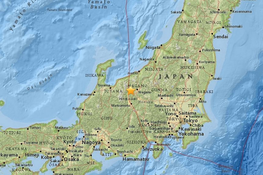 The temblor was centered in the northern part of Nagano prefecture.