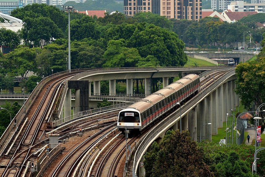 Singapore's MRT network clocked 555,000 train-km before a delay of five minutes or more occurred in the first three months of this year.