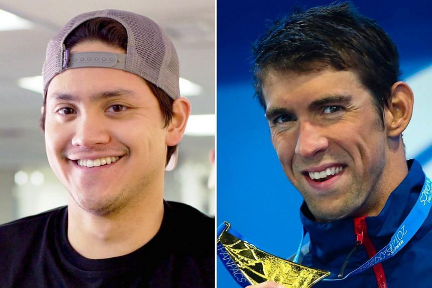 It is the first time Joseph Schooling (left) and Michael Phelps will meet at a high-profile sports event since the 2016 Rio Olympics.