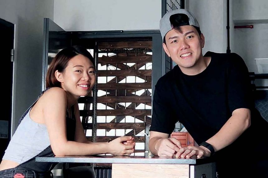Home owners Norica Ng and Jaret Sim eschew conventional furnishings such as a sofa in their home