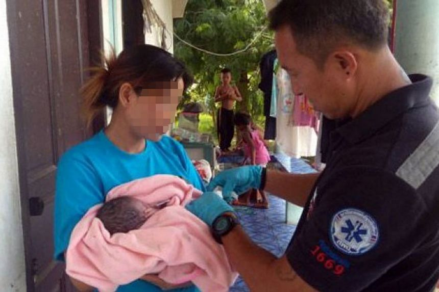 The woman claimed that she found the baby abandoned at a garbage pile.