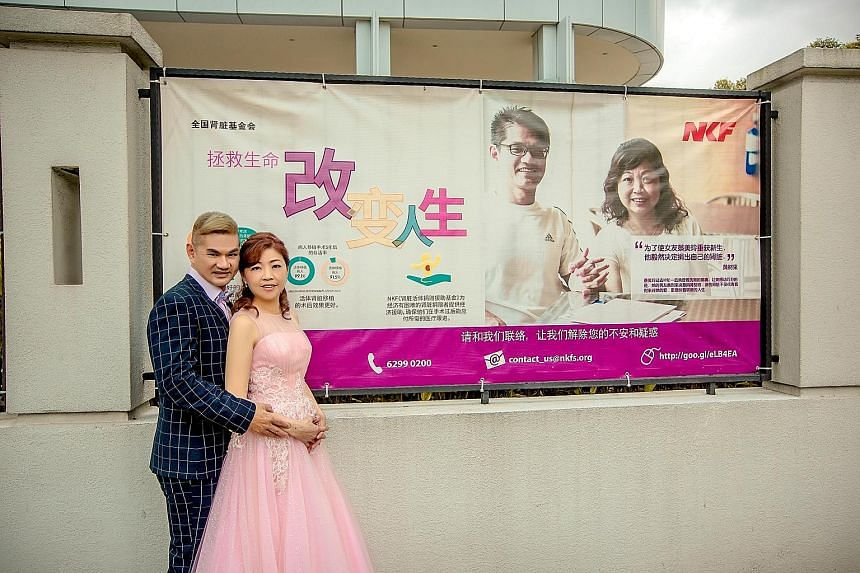 The couple got married last weekend, five years after Mr Chua donated one of his kidneys to Ms Chua to save her life. For both, it is their second marriage.