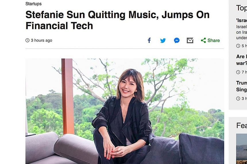 """A screengrab of the fake article on website Kiwiplunge, which also appears to rip off British broadcaster BBC. The singer said she has """"none of the mentioned assets in the article (this includes the brains to invest)""""."""