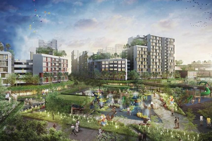 """As the first """"Forest Town"""", Tengah will see a car-free town centre and lush greenery surrounding the site."""
