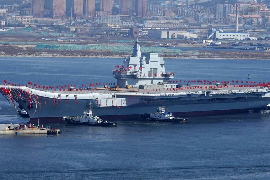 """The carrier, known only as """"Type 001A"""", set out for the trials on May 13, 2018."""