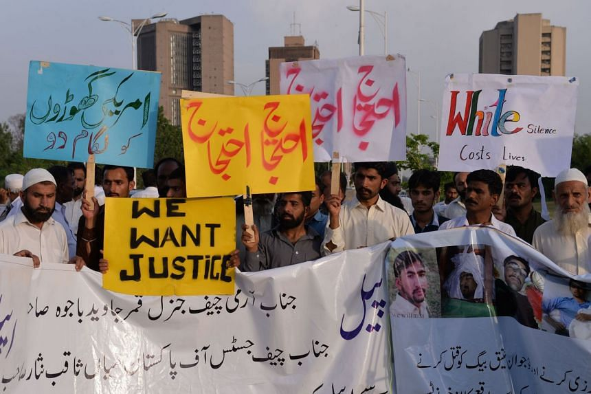 Pakistani protesters demonstrate over the killing of a local resident in a car accident involving a US diplomat.