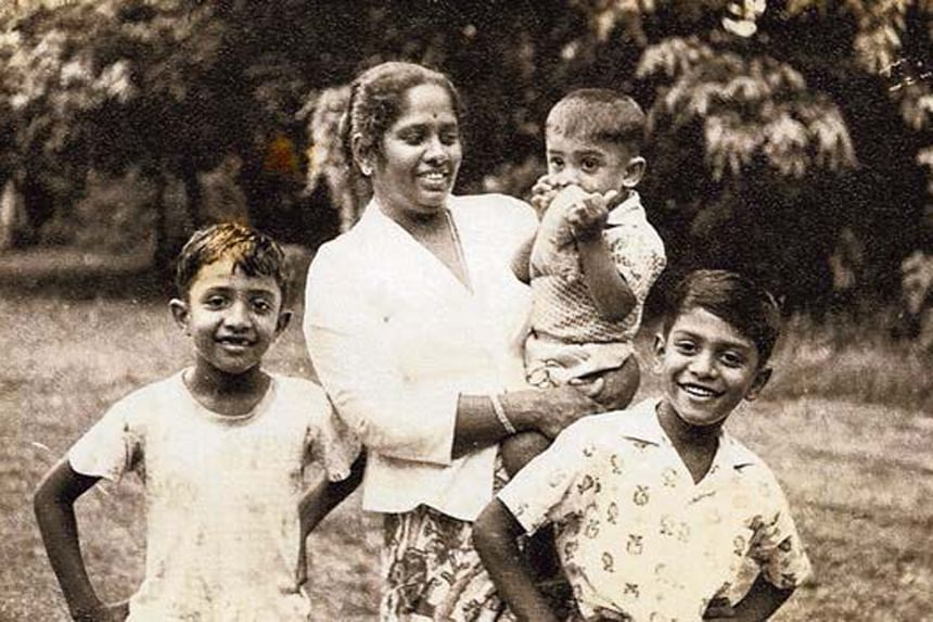Mrs Devan Nair had a brief political career of her own. Above, joining in the celebrations after winning Moulmein as a PAP candidate in the 1963 elections.