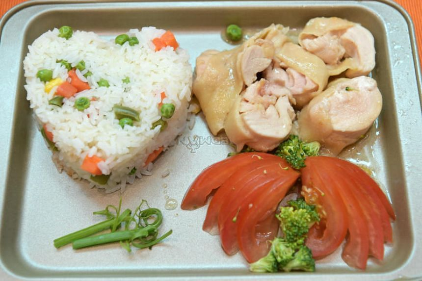 Madam Nancy Quek's dish, called Mum's Chicken Roll, which won second prize at a Mother's Day cooking competition at JCube mall on May 13, 2018.