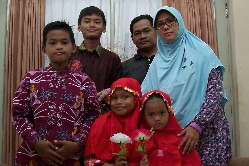 The family of six behind the suicide bombings at three churches in Surabaya, in Indonesia's East Java province, yesterday morning. At least 13 people were killed and 40 others wounded.
