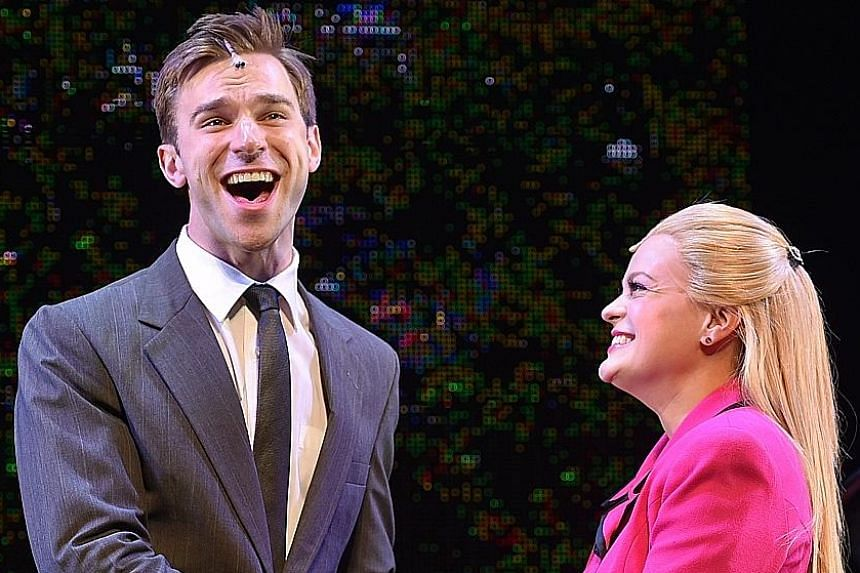 Maris McCulley plays Elle Woods while Jayson Speters is Emmett Forrest in Legally Blonde.