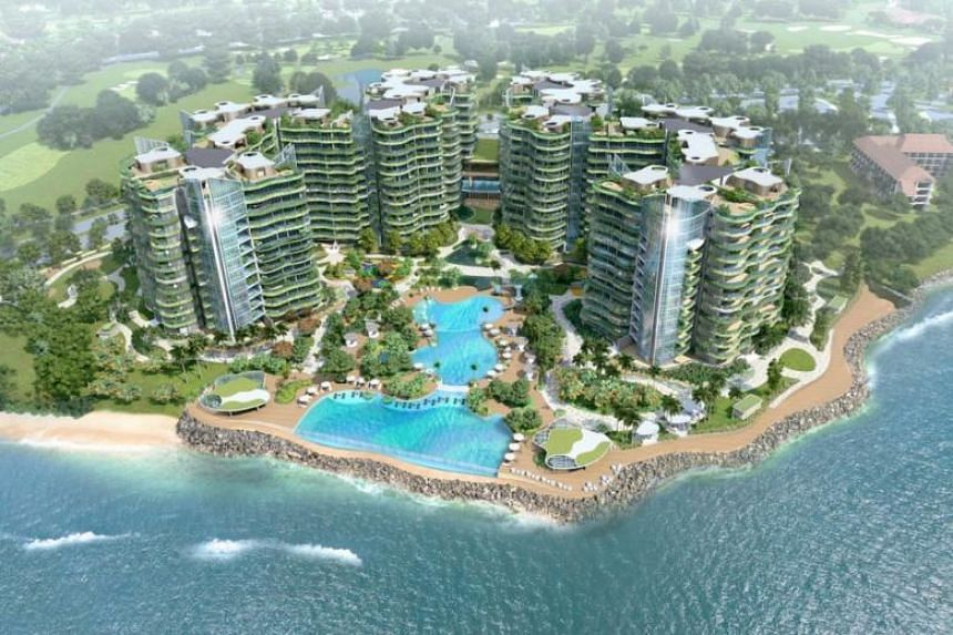 An artist's impression of the Coral Bay project.