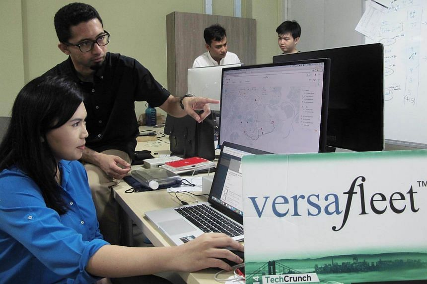 Shamir Rahim (second from left), founder and chief executive officer of VersaFleet, said the company is looking to expand regional operations within Malaysia and Indonesia.