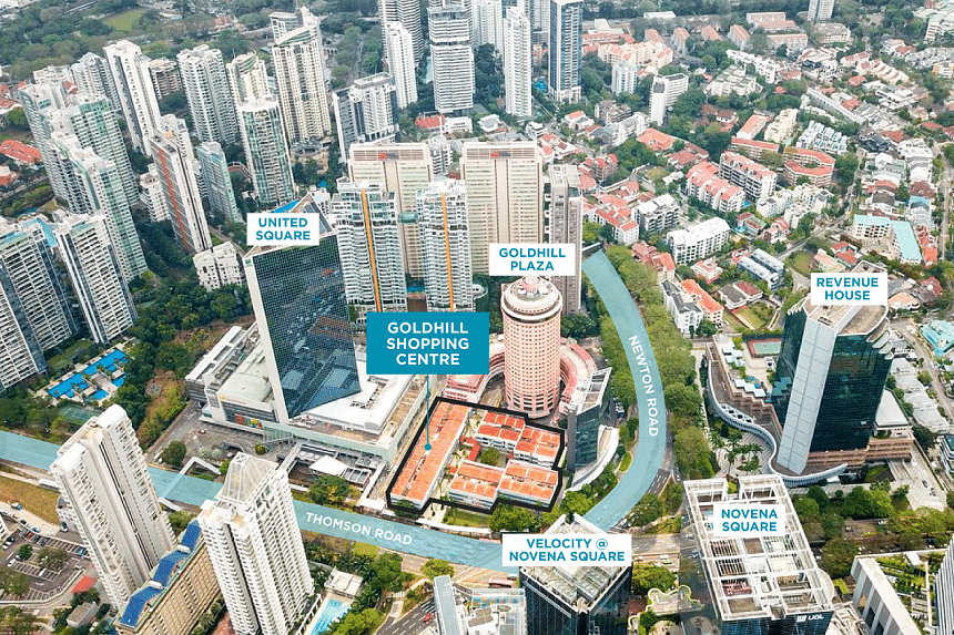 """The Goldhill site represents an opportunity for developers to """"create a trophy landmark commercial development in an established location"""", said Christina Sim, Cushman & Wakefield's director of capital markets."""